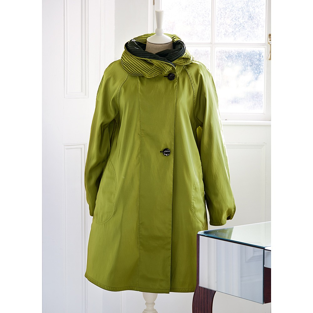 Lime & Black Reversible Raincoat