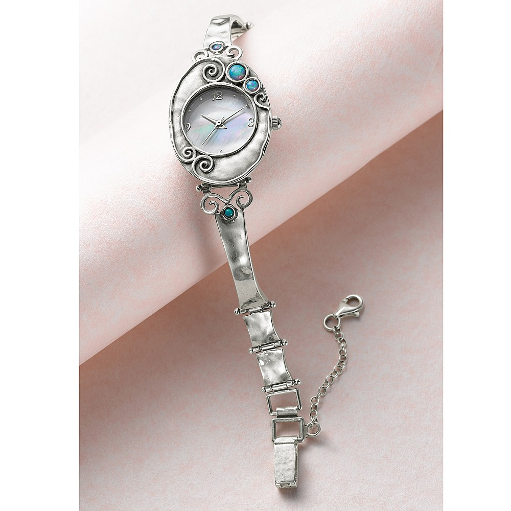 Opalite and Silver Watch