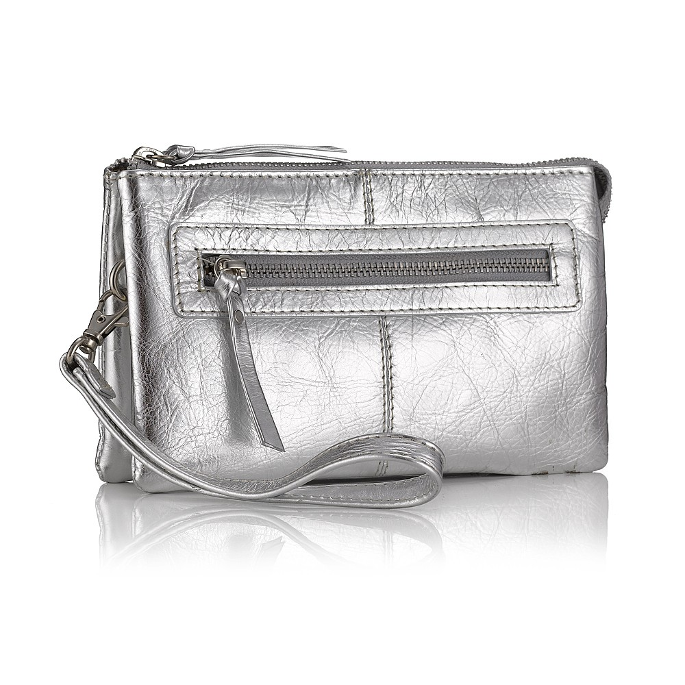 Silver Super Organised Clutch
