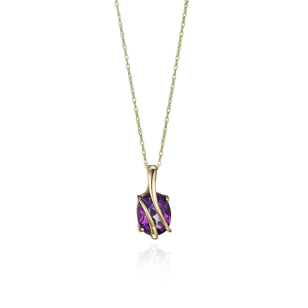 Wrapped In Gold Amethyst Pendant