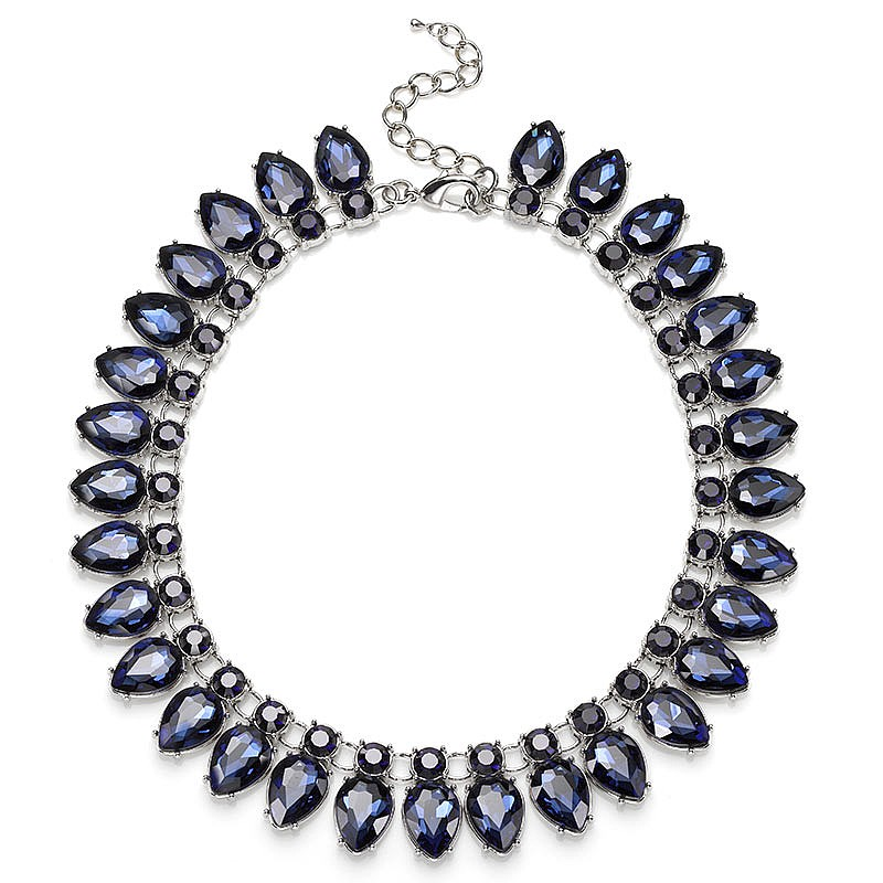 Midnight Blue Crystal Necklace