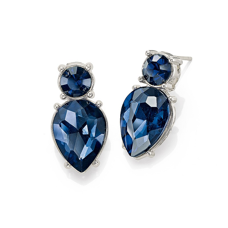 Midnight Blue Crystal Earrings
