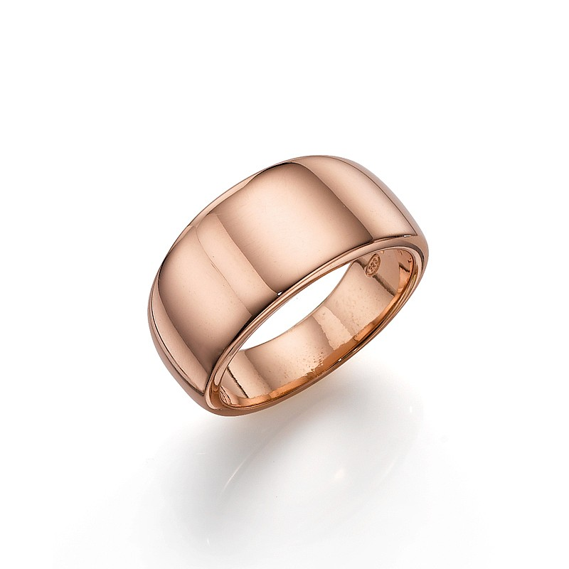 Rosy Broad Band Ring