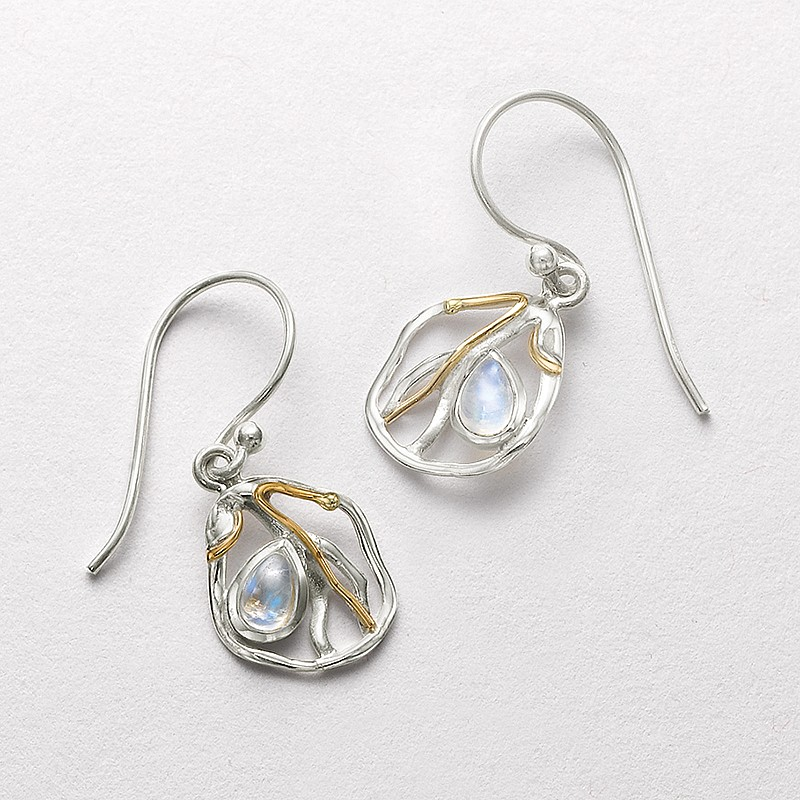Moonstone Maze Drop Earrings