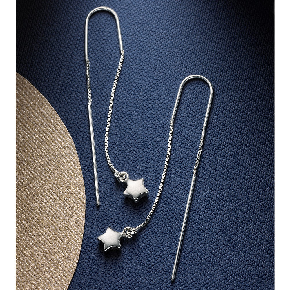 Stars and Bars Drop Earrings