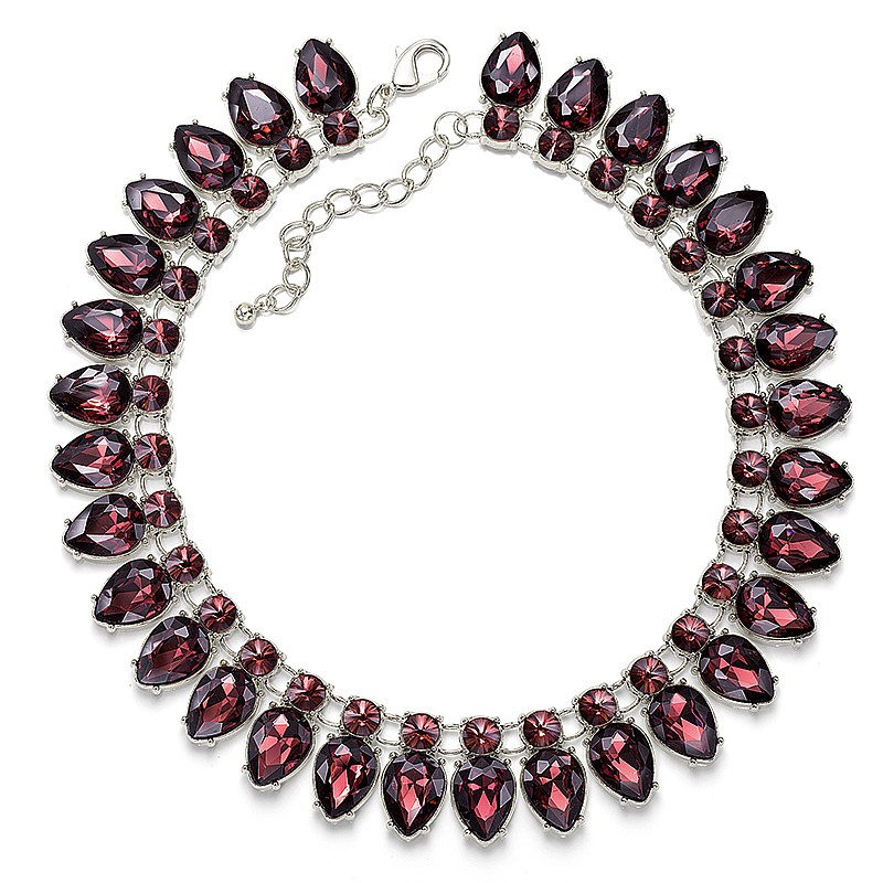 Florentine Flame Crystal Necklace