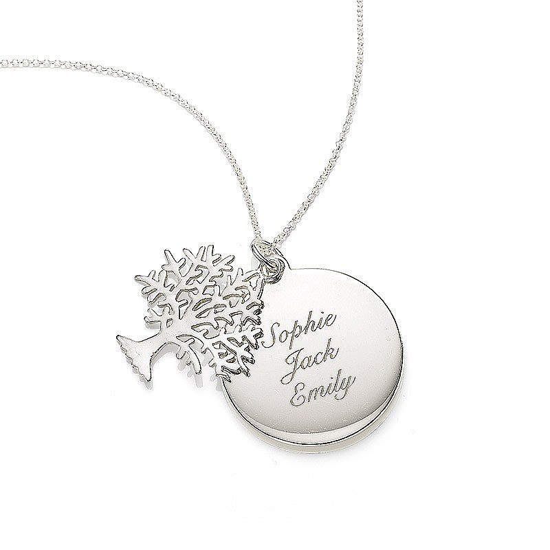 Personalised Family Tree Duo Pendant