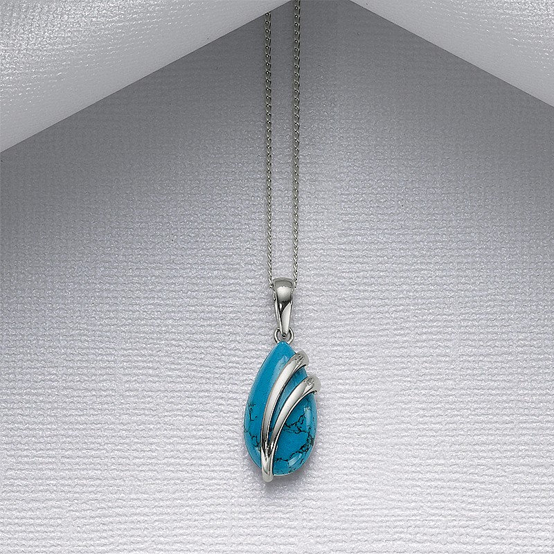 Kingfisher's Wing Pendant