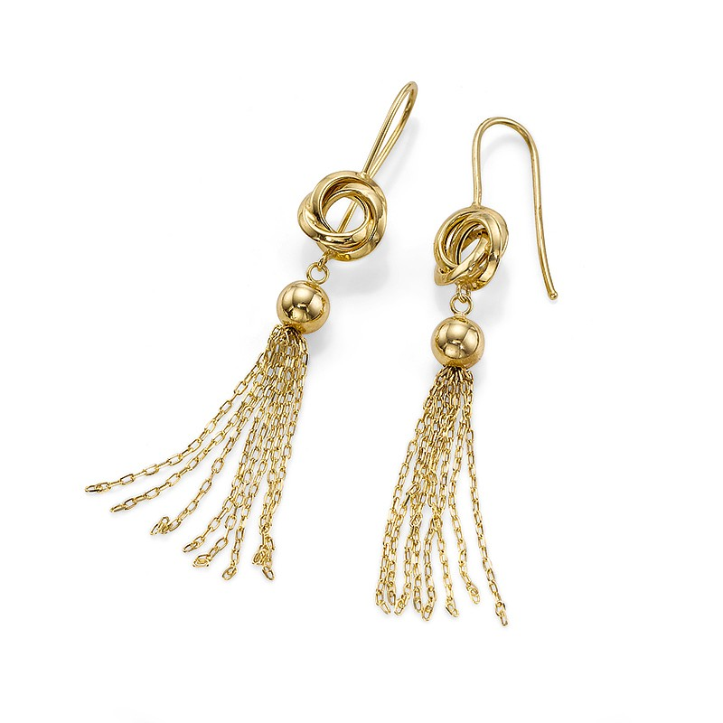 Lyrical Dance Gold Earrings