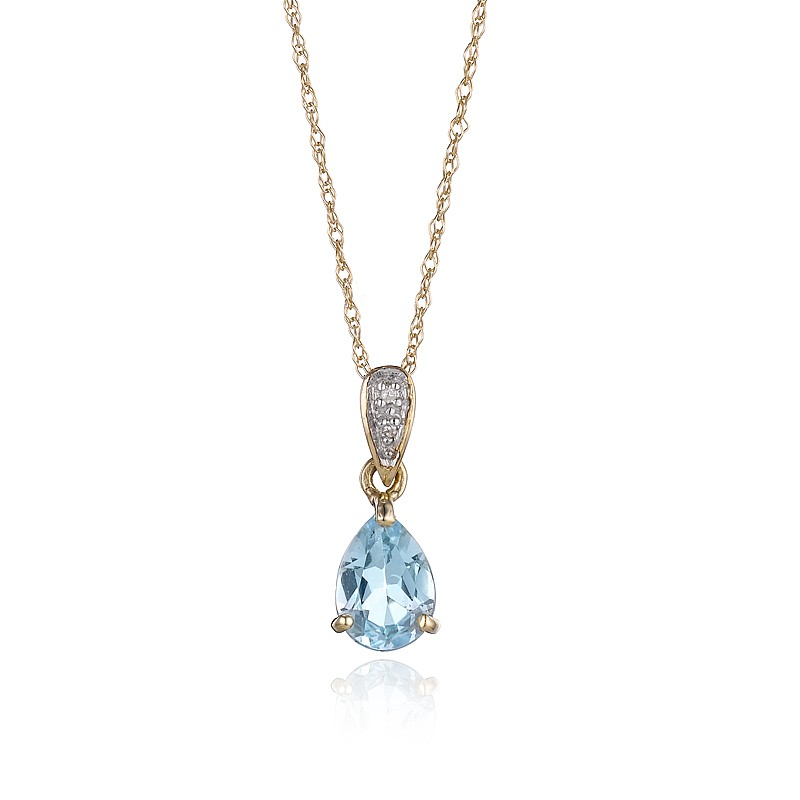 Blue Topaz Heavenly Drop Pendant