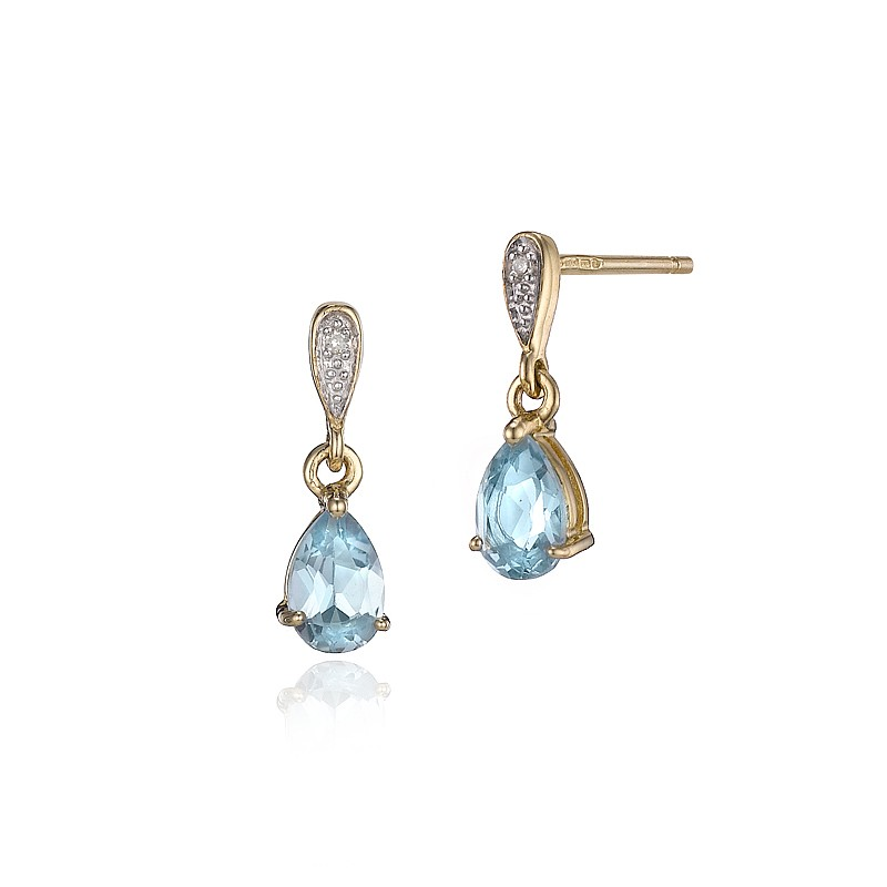 Blue Topaz Heavenly Drop Earrings