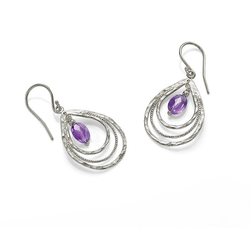 Tranquil Teardrops Amethyst Earrings