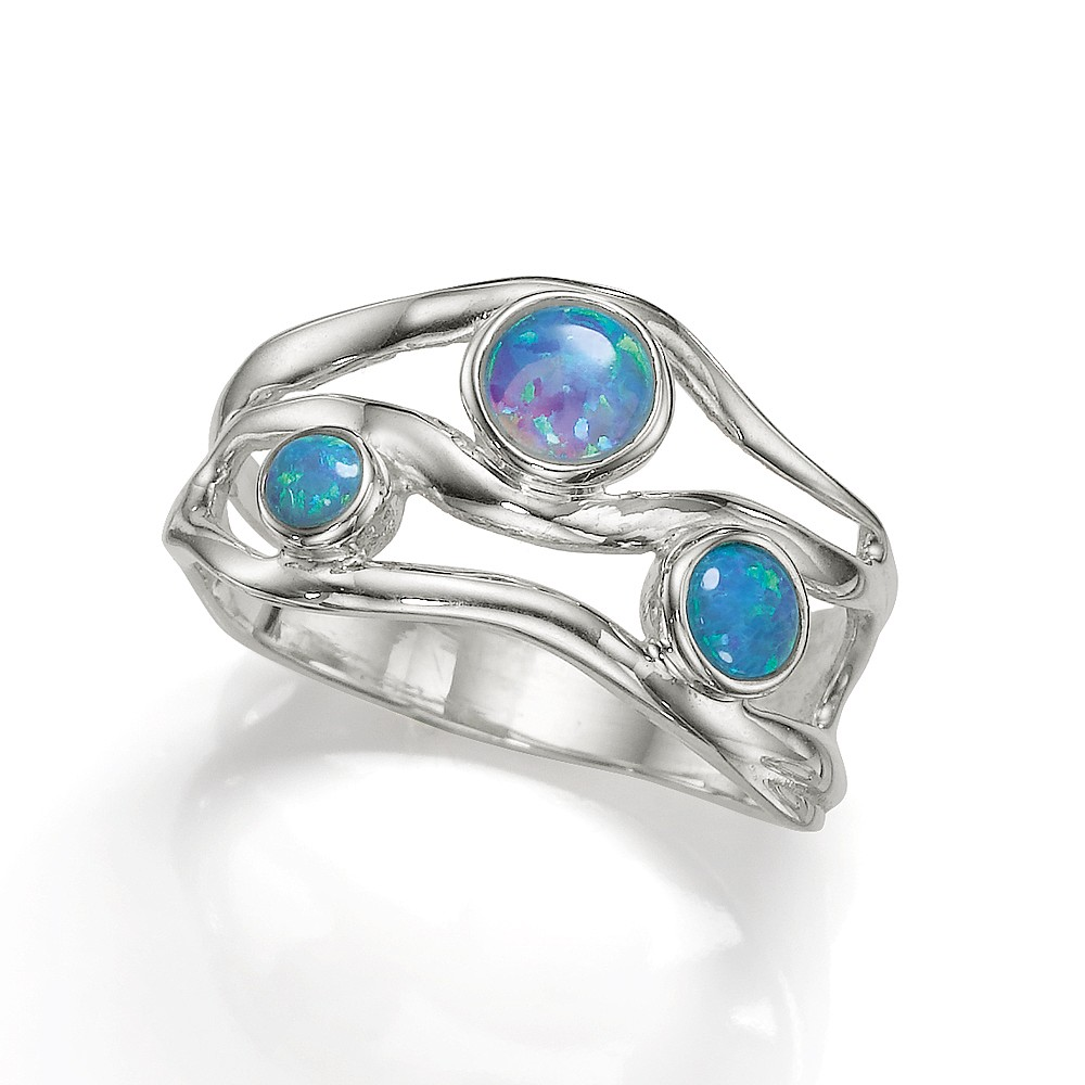 Effervescent Waves Opalite Ring