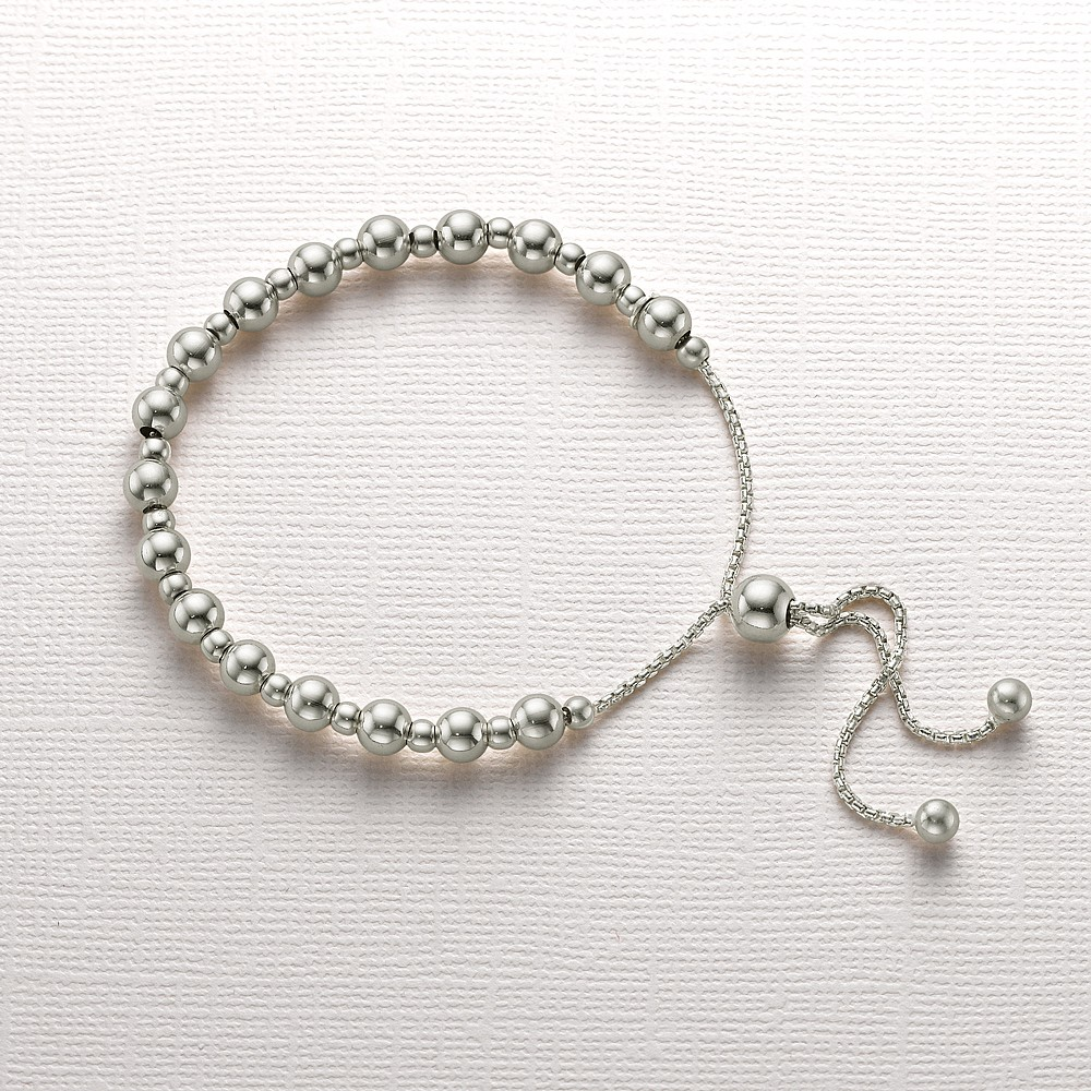 Perfectly Poised Silver Bracelet