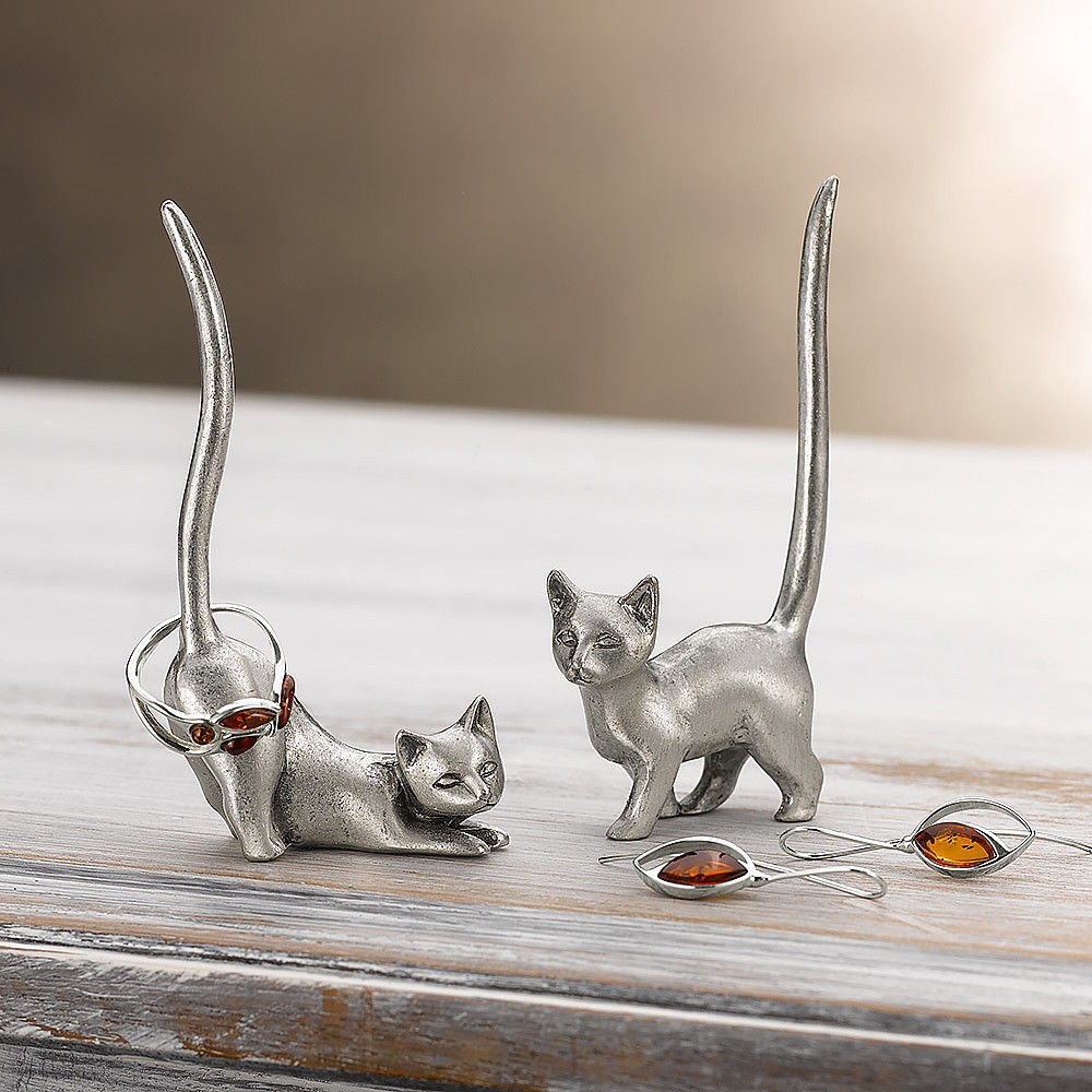 Curious Cats Ring Holders