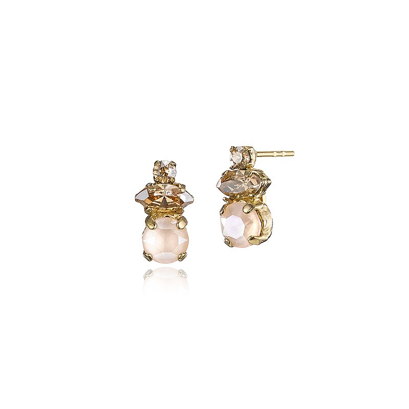 Champagne Shades Swarovski® Crystal Earrings