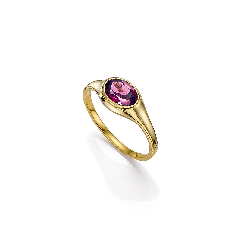 Pure Devotion Garnet Ring
