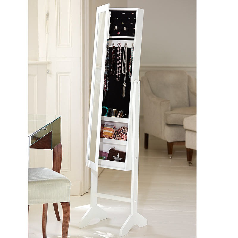 Cheval Mirror Jewellery Cabinet