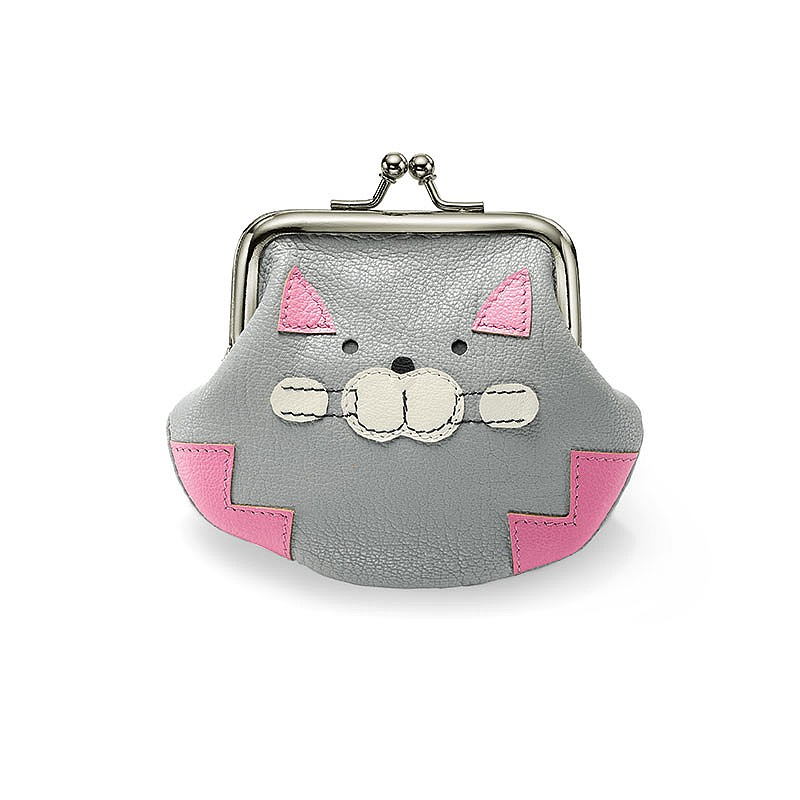 Grey Cat Coin Purse