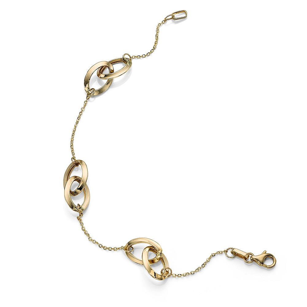 Gold Infinity Links Bracelet
