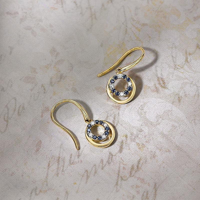 2fe3c0f90 Eternal Orbit Diamond & Sapphire Earrings | Earrings | Pia Jewellery Direct
