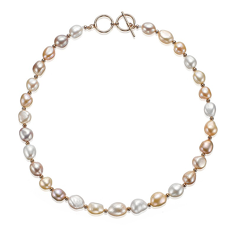 Veiled Rose Pearl Necklace