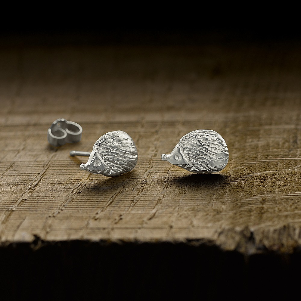 Curious Quills Stud Earrings