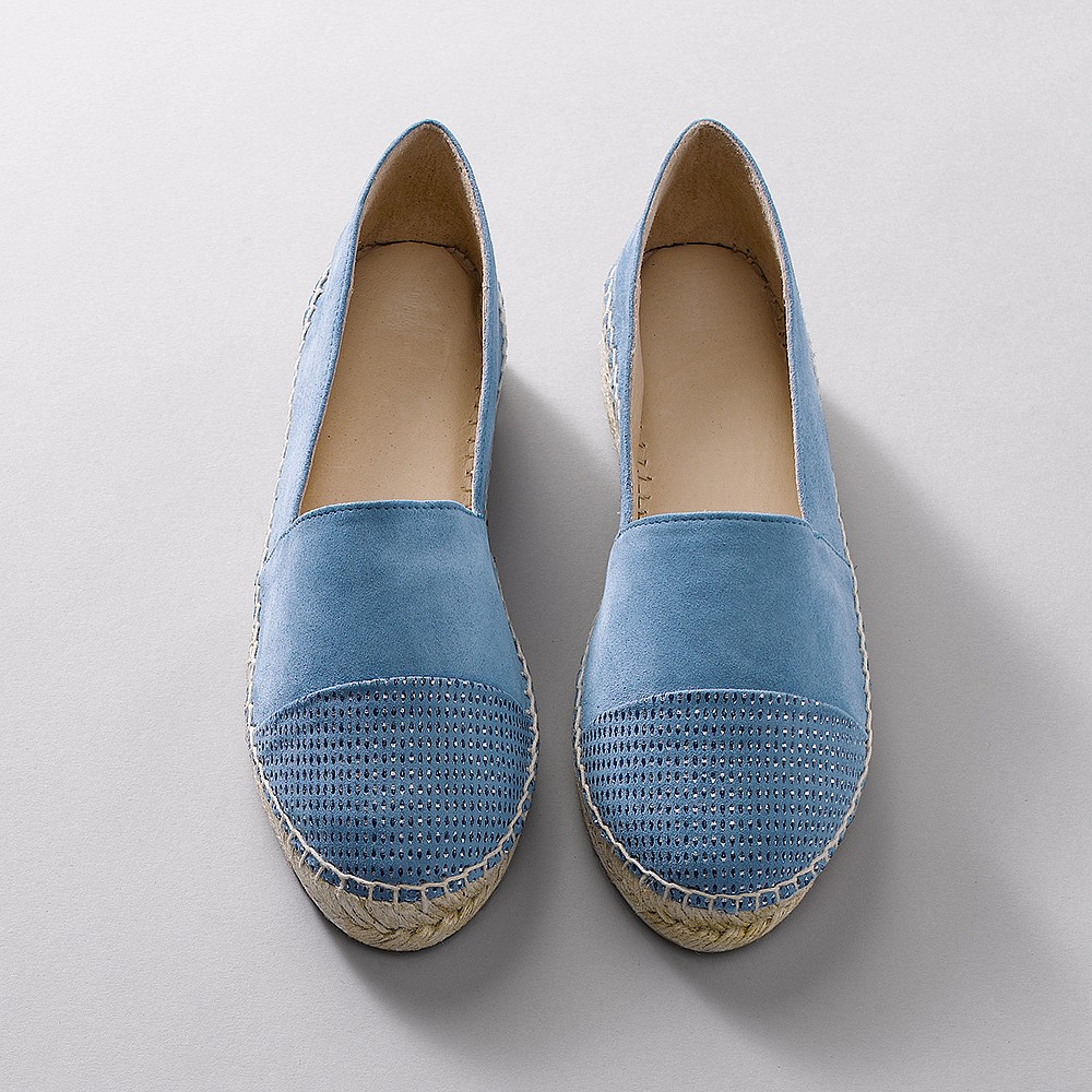 Moon Glimmer Leather Espadrilles