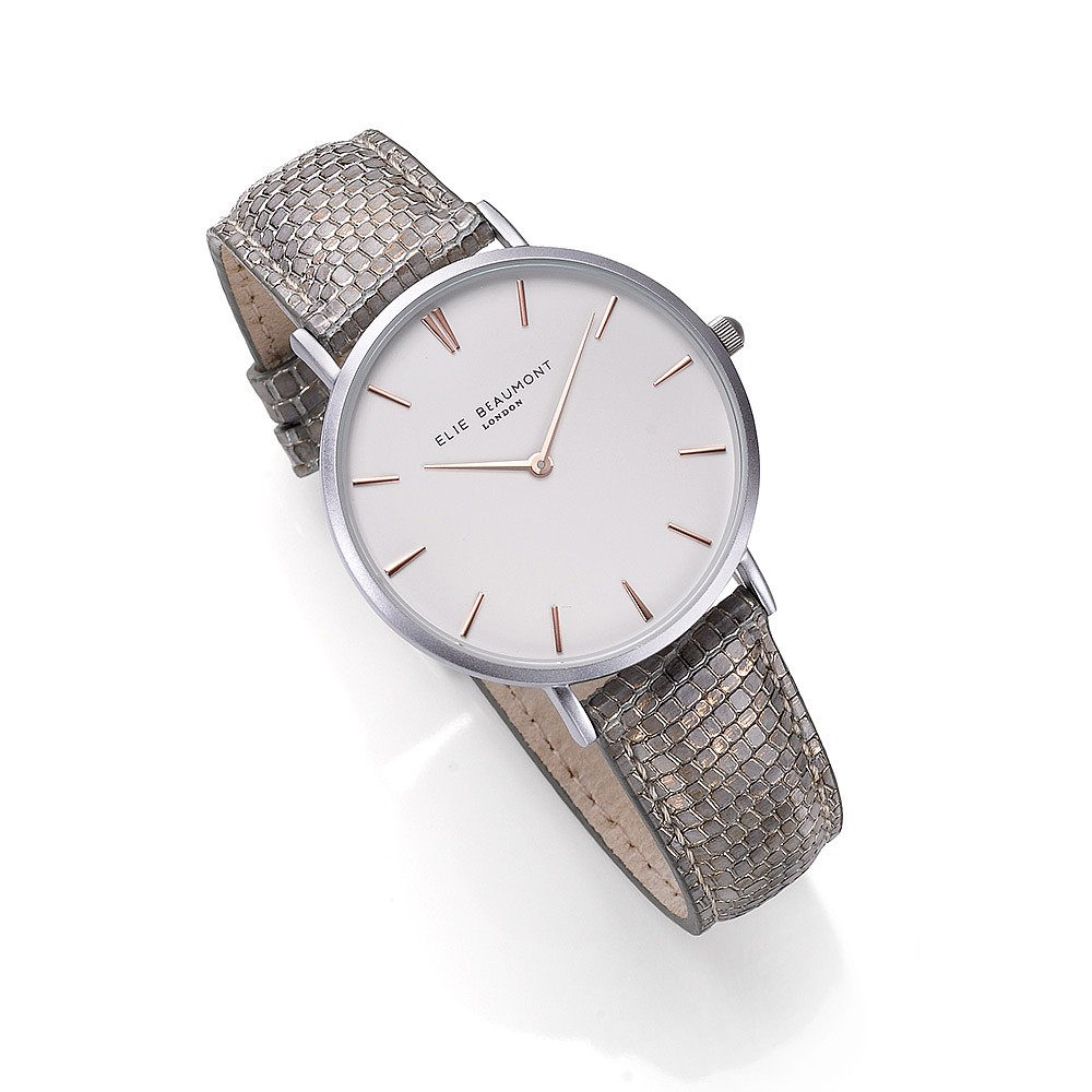 Elie Beaumont Sloane Champagne Silver Watch