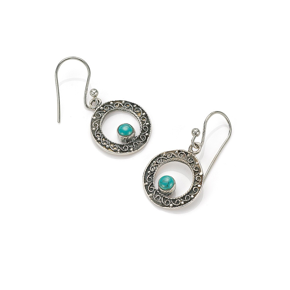 Turquoise Oasis Drop Earrings