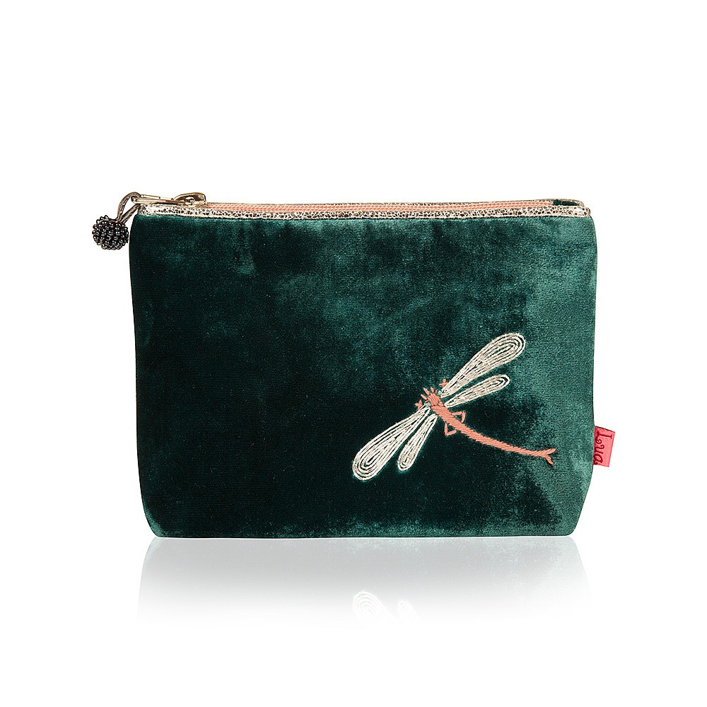 Emerald Dragonfly Dreams Pouch