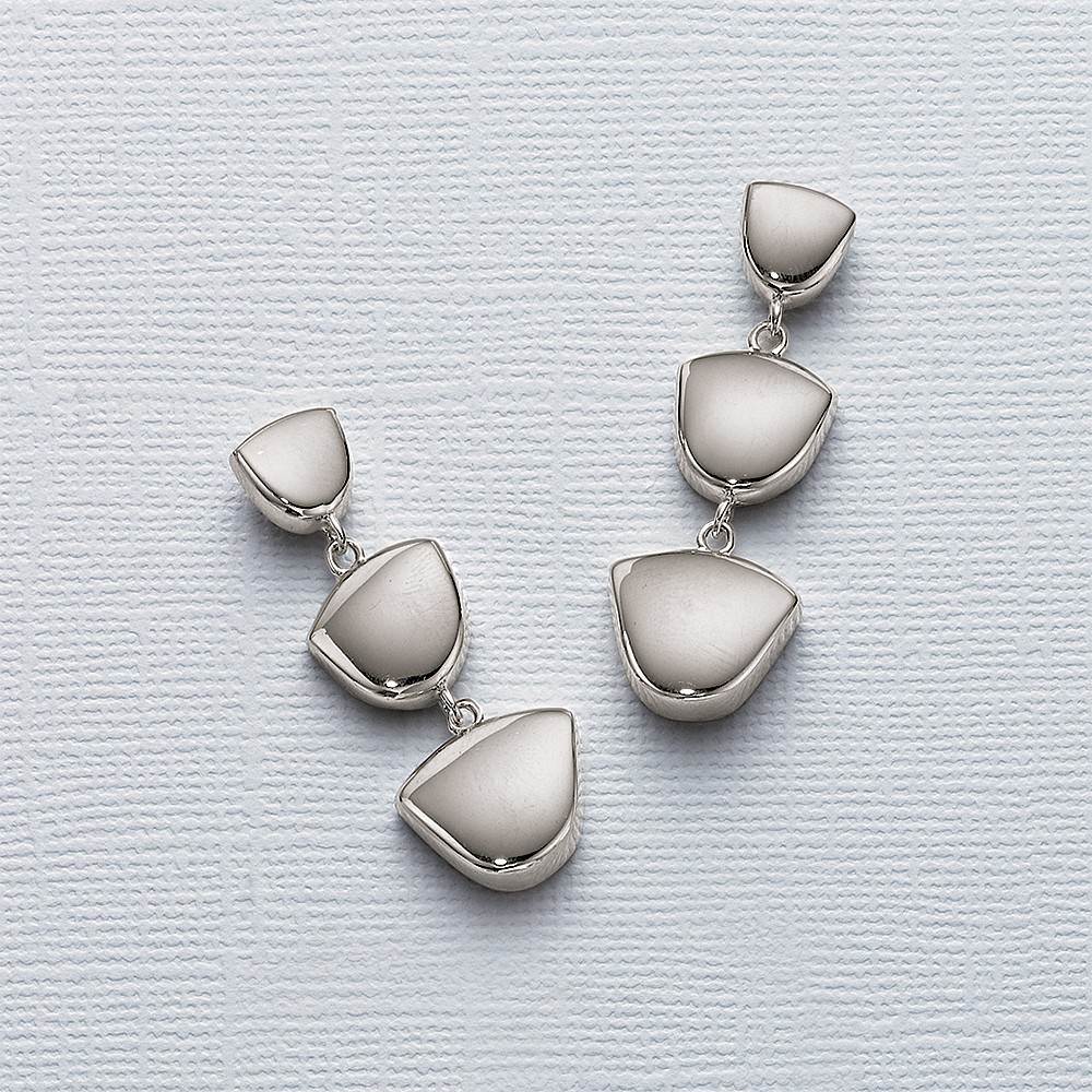 Polished Pathways Drop Earrings
