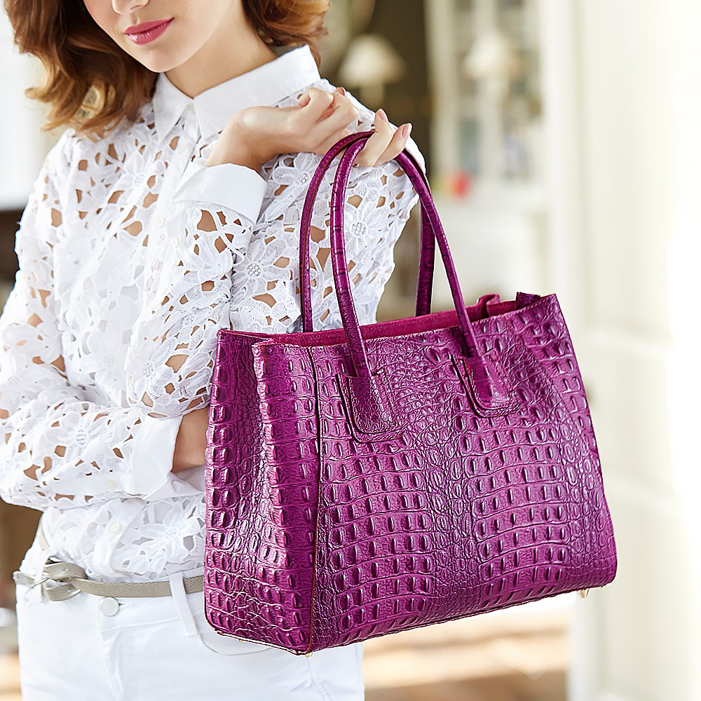Magenta Madness Leather Bag