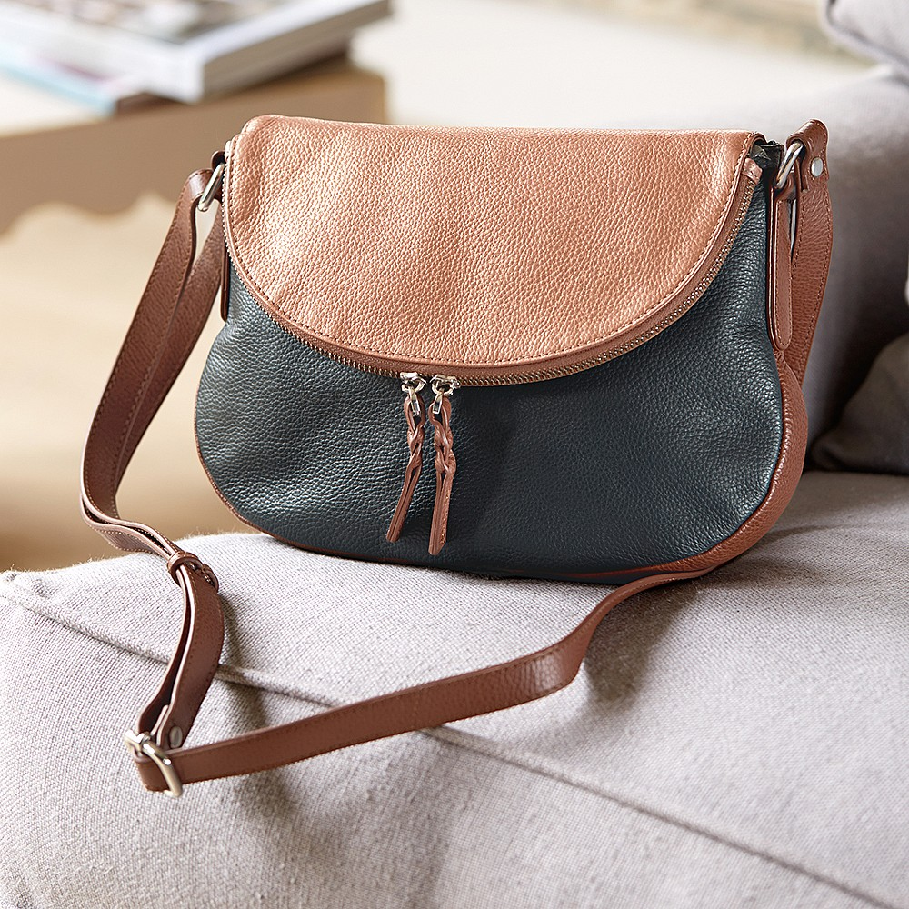 Bright Side Leather Saddle Bag