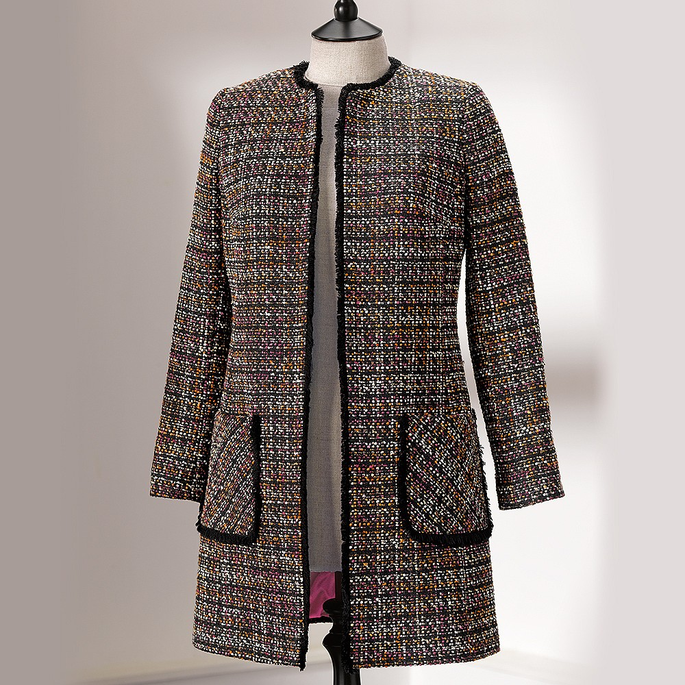 Sunset Noir Tweed Coat