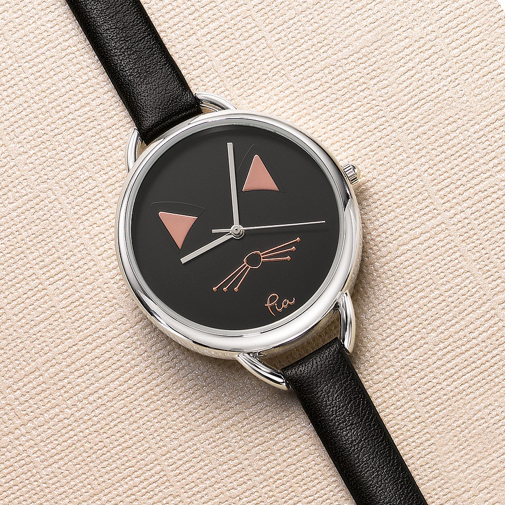 Meow or Never Leather Watch