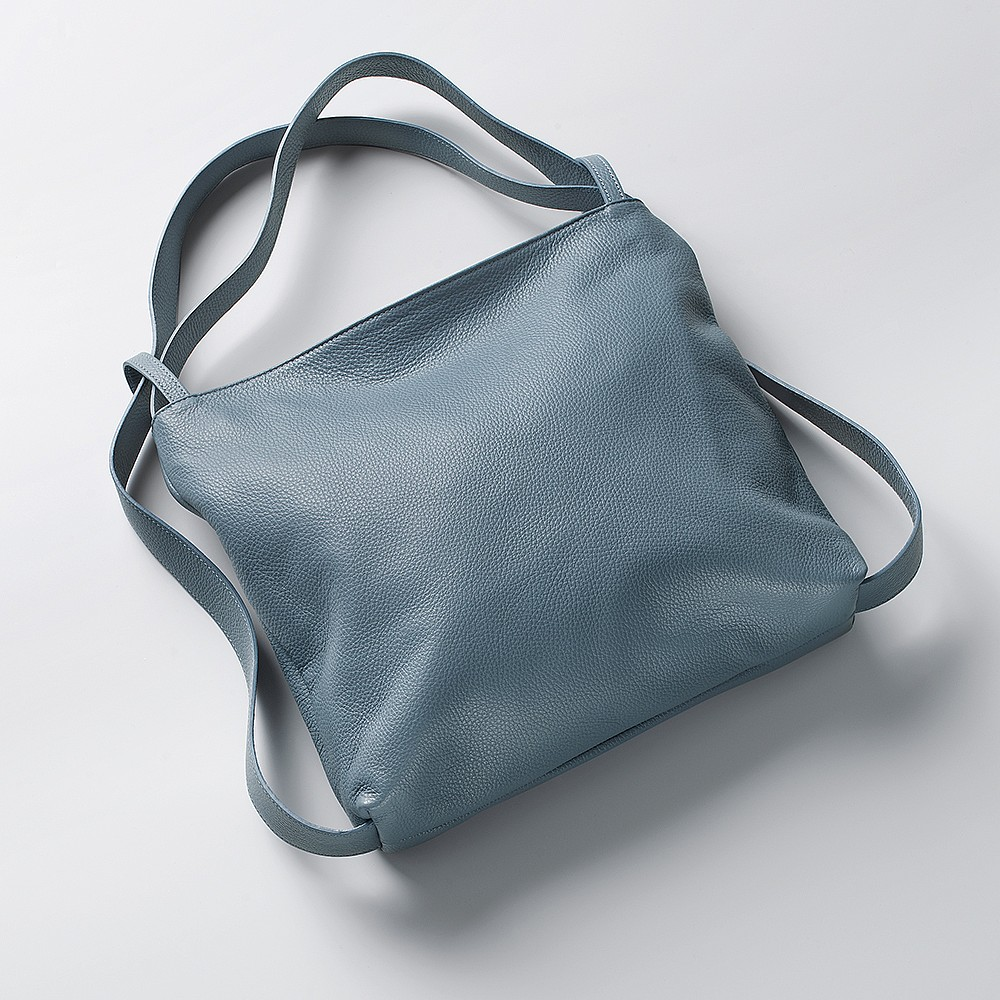 Denim Duality Leather Bag