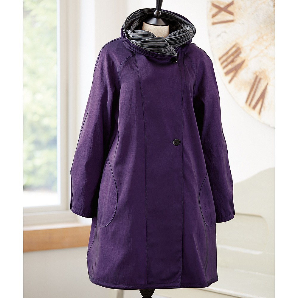Purple Rain Reversible Raincoat