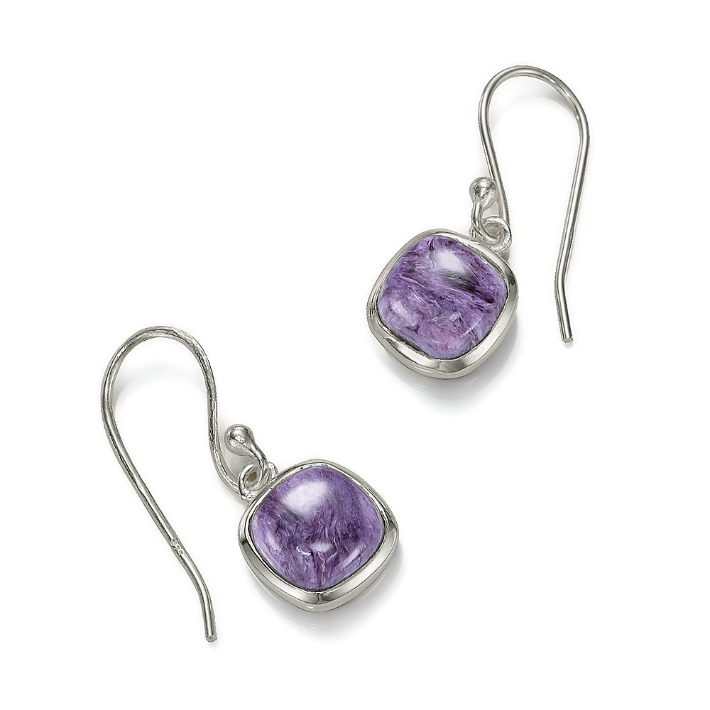 Violet Verve Charoite Drop Earrings