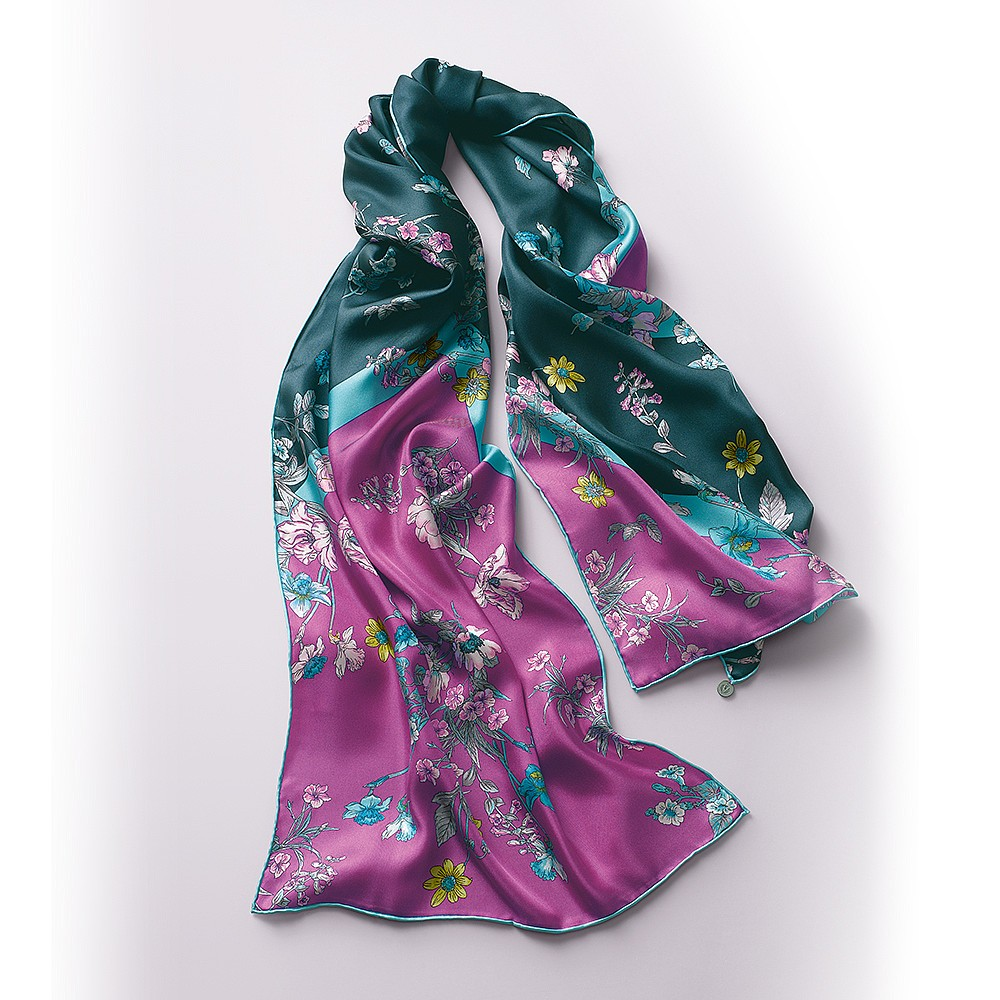 Blissful Bouquet Silk Scarf