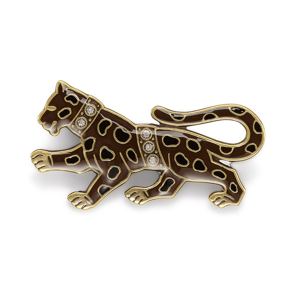 Into the Wild Leopard Brooch