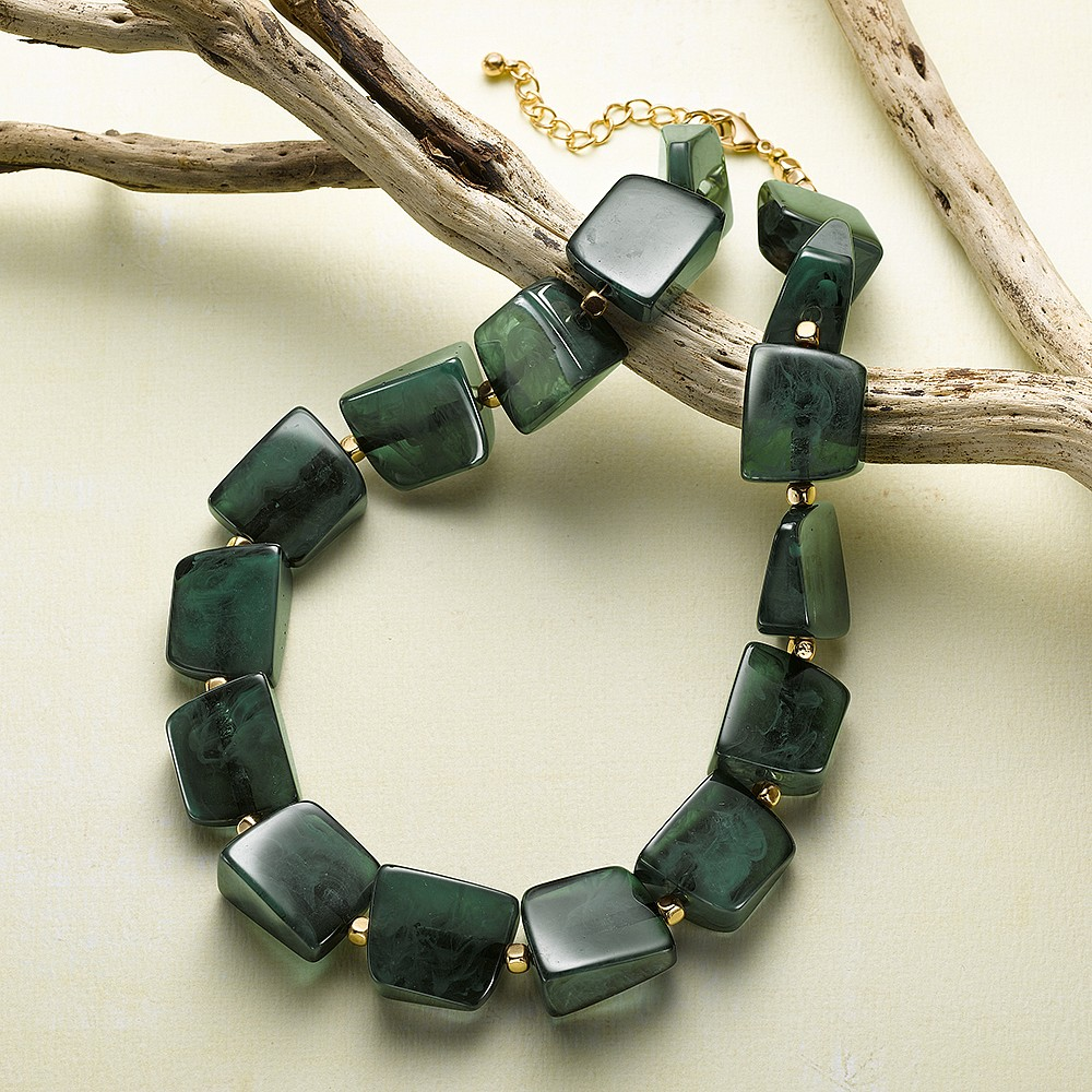 Forest Green Modernista Necklace