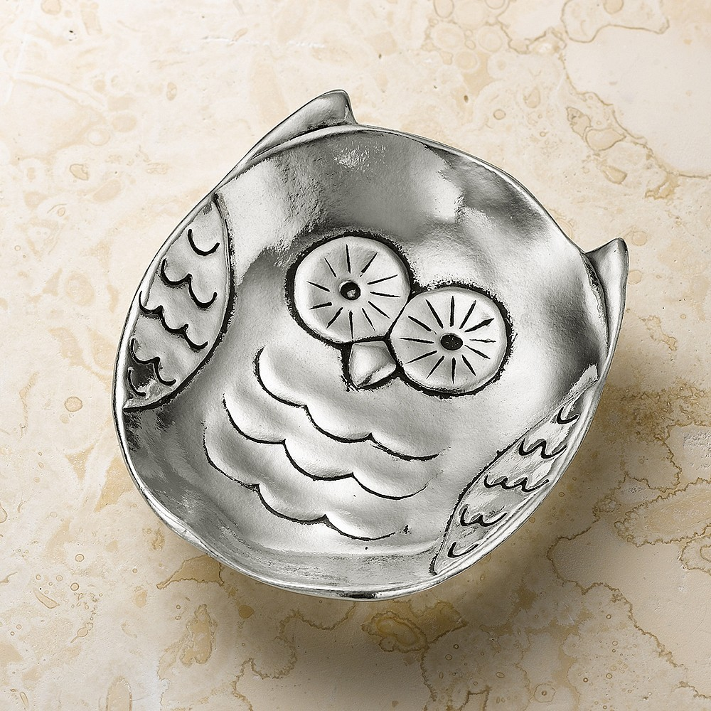 Owl Be There Pewter Trinket Dish