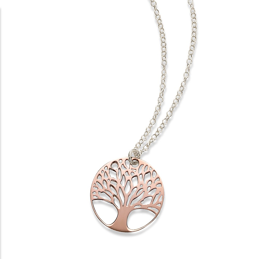 Grow in Grace Silver & Rose Pendant