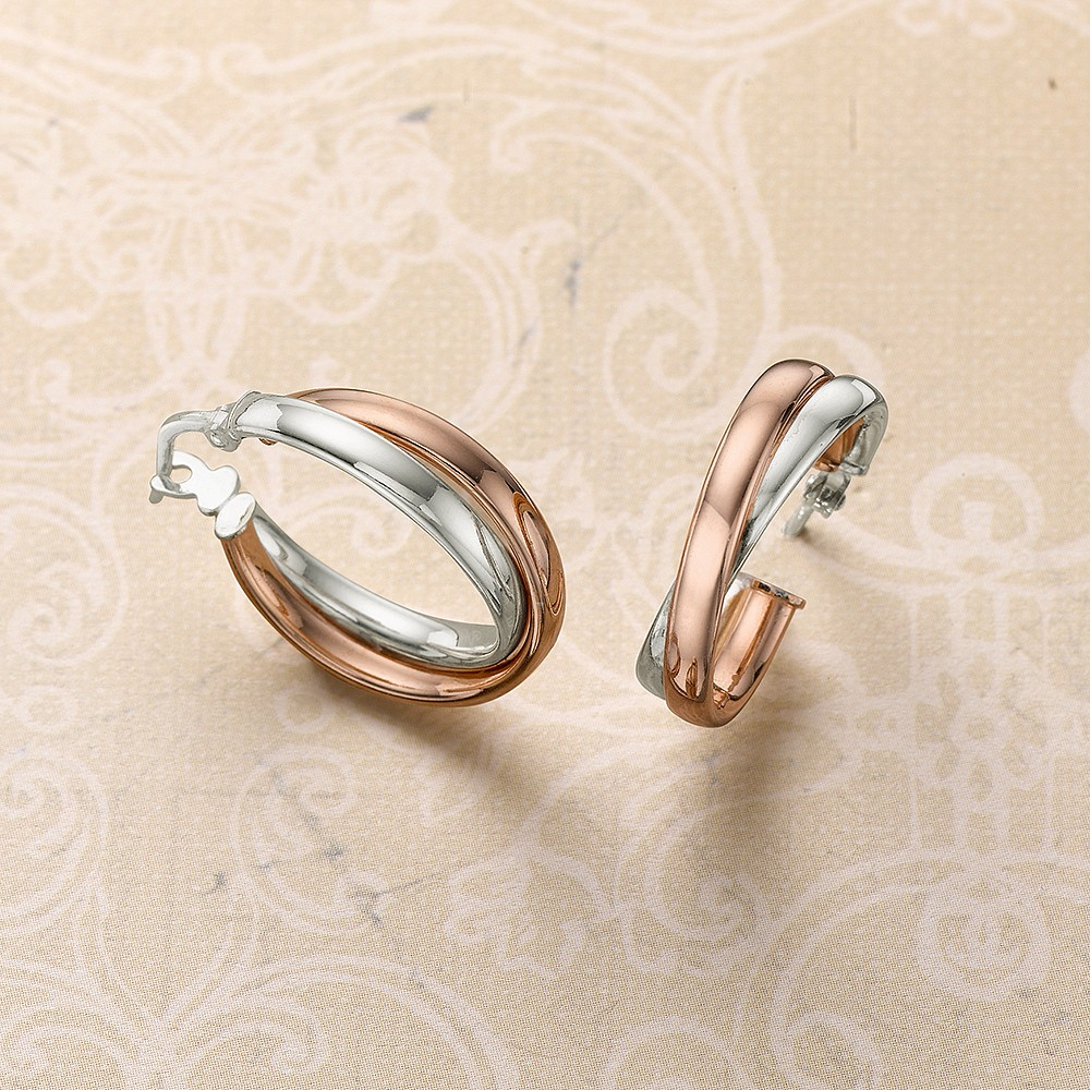 New Wave Two-tone Hoop Earrings