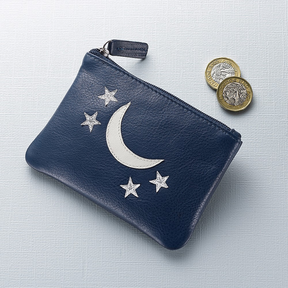 At Twilight Leather Coin Purse