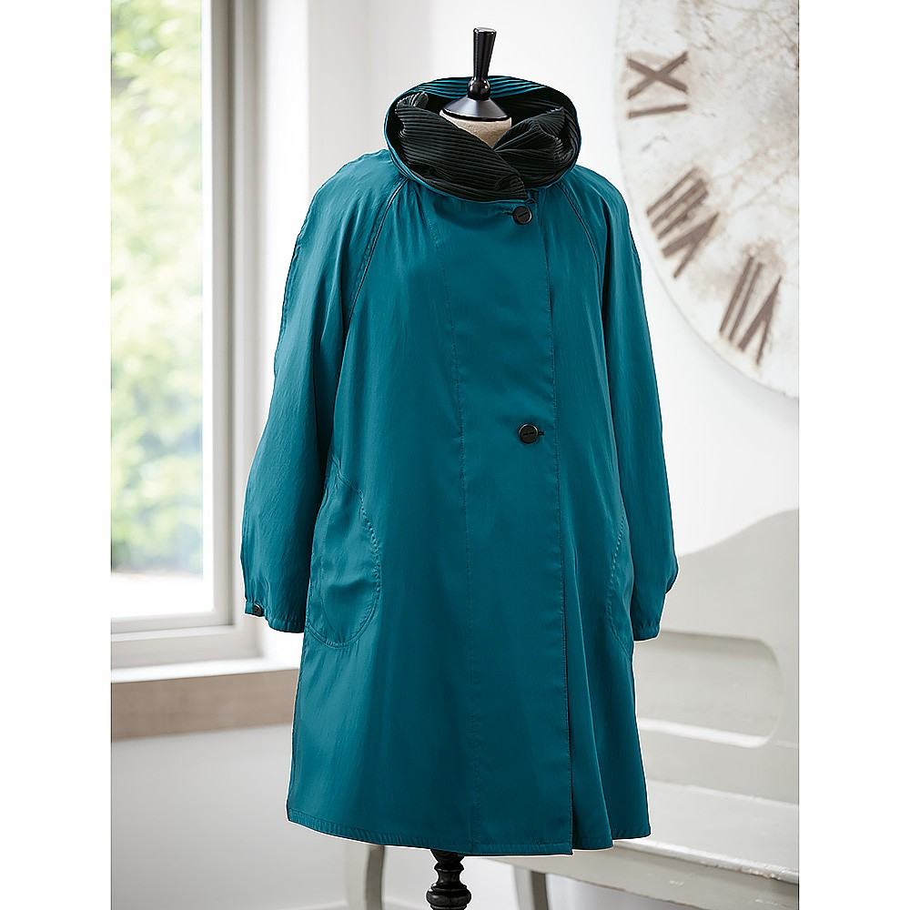 Tranquil Teal Reversible Raincoat