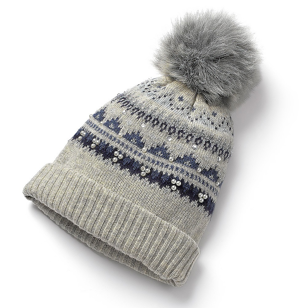Winter Wonderland Fairisle Pom-pom Hat