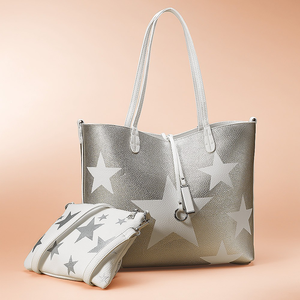 Star Gazer Vegan-Leather Tote Bag