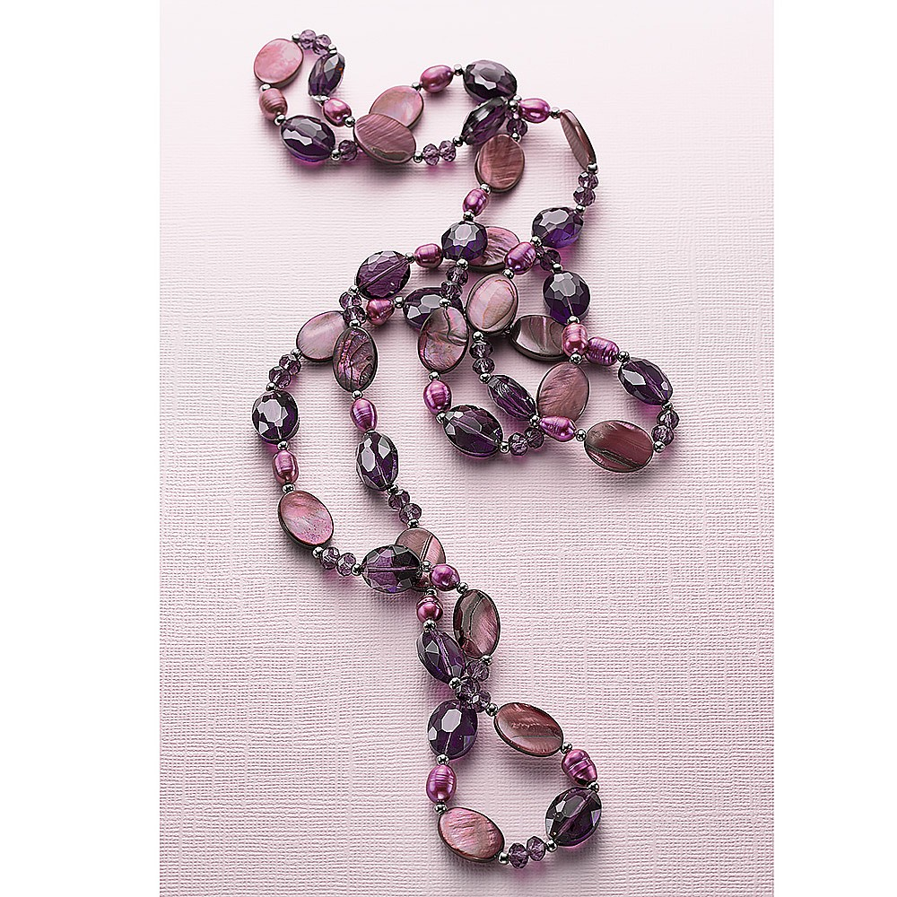 Violet Skies Endless Necklace
